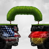 American German Cooperation Royalty Free Stock Images