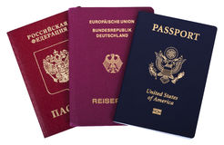 Triple Nationality - American, German & Russian Royalty Free Stock Image