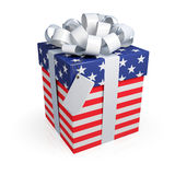 American gift box. Royalty Free Stock Image