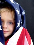 American Girl. Flag series stock photo