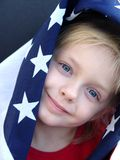 American Girl. Flag series stock image