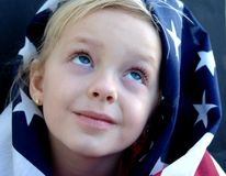 American Girl. Flag series royalty free stock photos