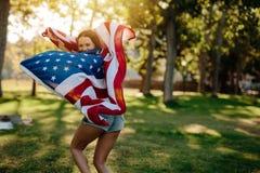 American girl enjoying freedom Royalty Free Stock Photography