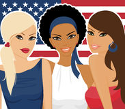 American Girls Stock Photo