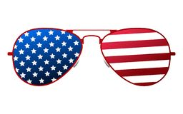 American glasses Icon. Happy 4 th July and Independence Day. Cartoon Vector illustration.  royalty free illustration