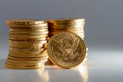American gold coins Stock Photos