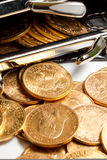 American gold coins. Stock Image