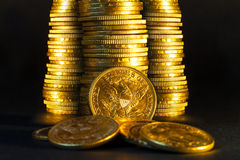 American gold coins. Stock Images