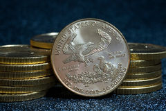 American Gold Eagle coins Royalty Free Stock Images