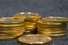 American Gold Eagle coins stock photo
