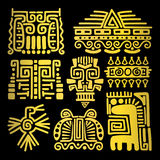 American golden ancient totems Stock Images
