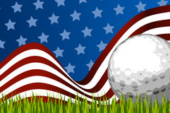 American golf background ball Stock Image