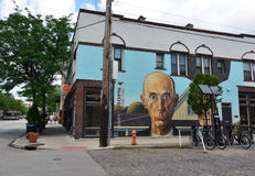 American Gothic Mural - Short North Arts District - Columbus, Oh stock images