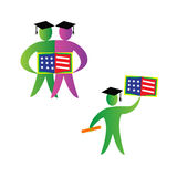 American graduates Royalty Free Stock Image