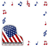 American Grand Piano With Notes Royalty Free Stock Photography