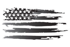 American grayscale. American Flag Black And White Vector Flag Striped USA American Culture Royalty Free Stock Images