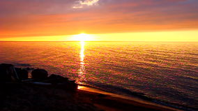 American Great Lakes Sunset stock video footage