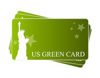 American green card Royalty Free Stock Photography