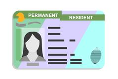 Free American Green Card, Permanent Residence Card Flat Icon, Vector Illustration Stock Photo - 164169870