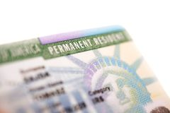 American Green Card stock photography