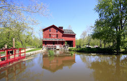 American grist mill Stock Photos
