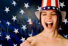 American Grrrl! Royalty Free Stock Image