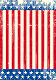 American grunge background flag Royalty Free Stock Photos