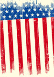 American grunge banner. An american grunge flag for a background of a poster Stock Images