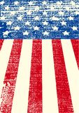 American grunge flag. An American grunge flag for a background of a poster Stock Image