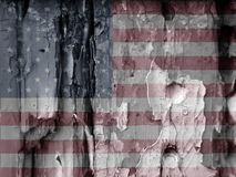 American grunge flag Royalty Free Stock Images