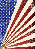 American grunge Flag. A patriotic background for you Royalty Free Stock Photo