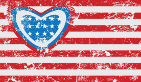American grunge flag. Abstract illustration Royalty Free Stock Photography