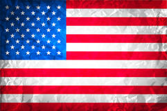 American grunge flag. grunge for a background of a poster. vector usa Independence Day Royalty Free Stock Images