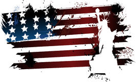 American grunge flag liberty Stock Images