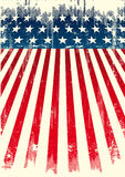 American grunge flag. An american poster for you. Enjoy Stock Photos