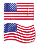 American grunge flag - USA Stock Photography