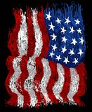 American grunge flag. Vector art illustration, background or print Stock Images