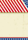 American grunge poster flag. A grunge greeting american poster for you Stock Photo