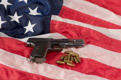 American gun Royalty Free Stock Images