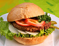 American hamburger Stock Photography