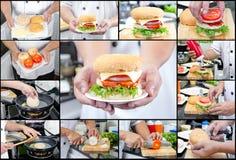 American hamburger style Stock Photography
