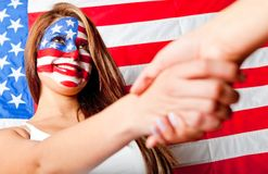 American handshake Royalty Free Stock Photo