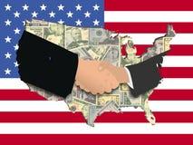 American Handshake Royalty Free Stock Images