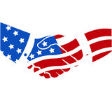 American handshake USA Royalty Free Stock Image