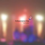 American hat independence day fireworks background Royalty Free Stock Images