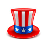 American hat  on white vector Stock Photo