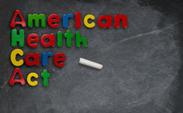 American Health Care Act illustration on chalkboard Royalty Free Stock Photo