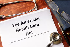 The American health care act. Stock Image