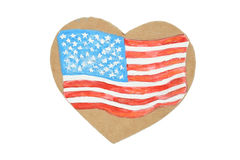 American Heart Flag Royalty Free Stock Photos