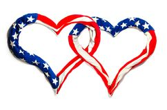 American hearts Royalty Free Stock Photo